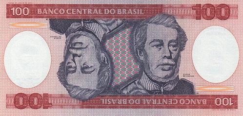 Brazil, 1984, 100 Cruzeiros