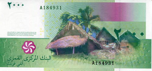 Comoros, 2005, 2000 Francs