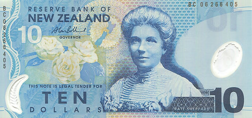 New Zealand, 2006, 10 Dollars, (Sign 2), Polymer