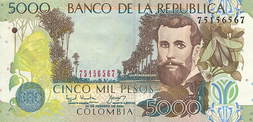 Colombia, 2004, 5000 Pesos