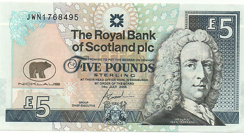 Scotland, 2005, 5 Pounds, The Royal Bank of Scotland