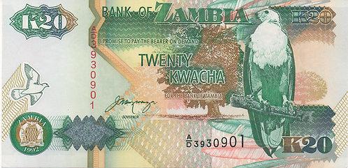 Zambia, 1992, 20 Kwacha