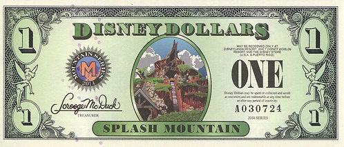 Disney, 2014, 1 Dollar, Mountain Series