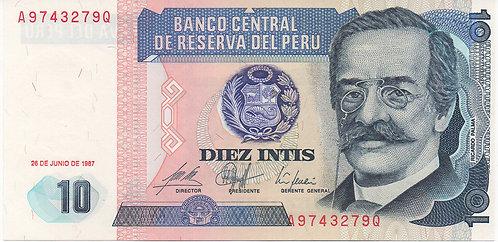 Peru, 1987, 10 Intis