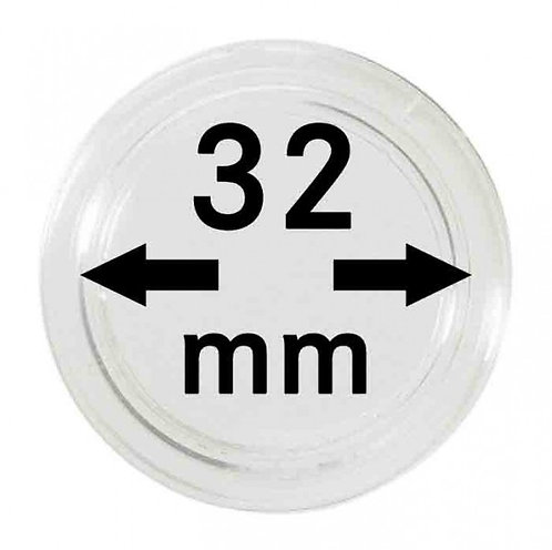 COIN CAPSULES 32 MM Ø INNER DIAMETER
