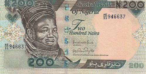 Nigeria, 2010, 200 Naira