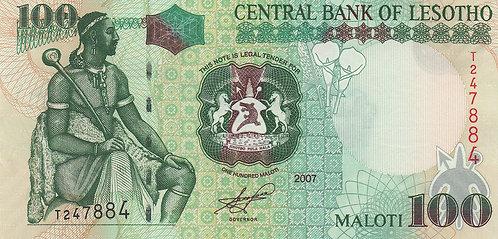 Lesotho, 2006, 100 Maloti