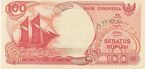 Indonesia, 1992-1994, 100 Rupiah