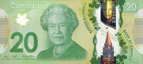 Canada, 2012, 20 Dollars, Polymer