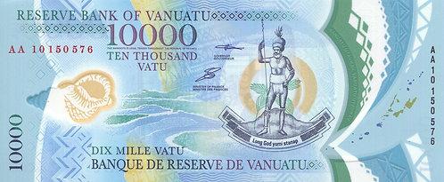 Vanuatu, 2010, 10000 Vatu, Polymer, Commemorative