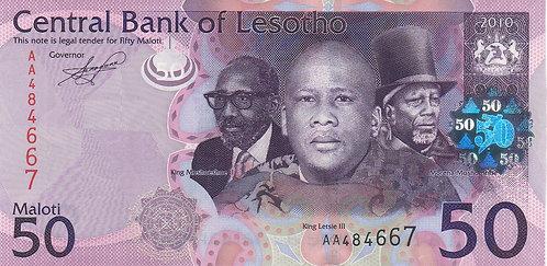 Lesotho, 2010, 50 Maloti