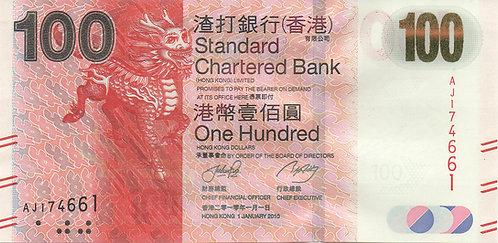Hong Kong, 2010, 100 Dollars, Standard Chartered Bank