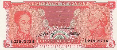 Venezuela, 1989, 5 Bolivares