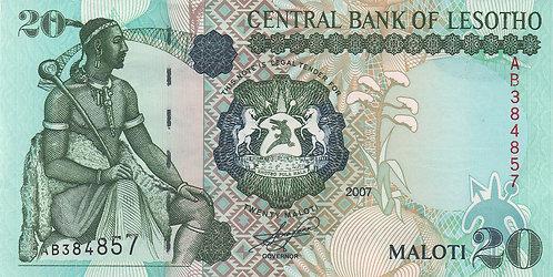 Lesotho, 2007, 20 Maloti