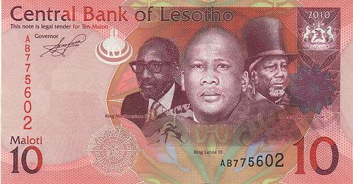 Lesotho, 2010, 10 Maloti