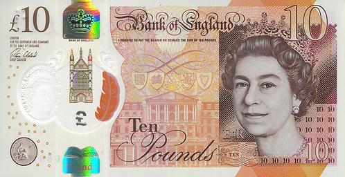Bank of England, 2016, 10 Pounds