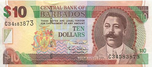 Barbados, 2007, 10 Dollars