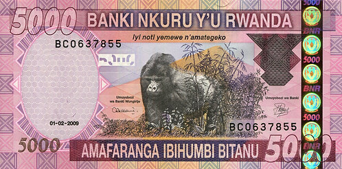 Rwanda, 2009, 5000 Francs