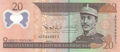 Dominican Republic, 20 Pesos Oro, Polymer