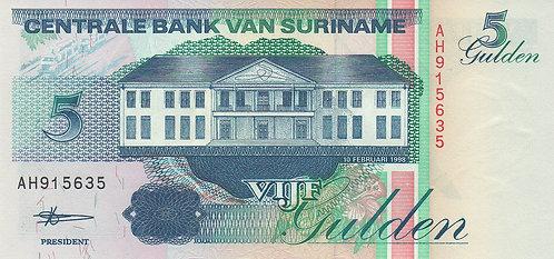 Suriname, 1998, 5 Gulden