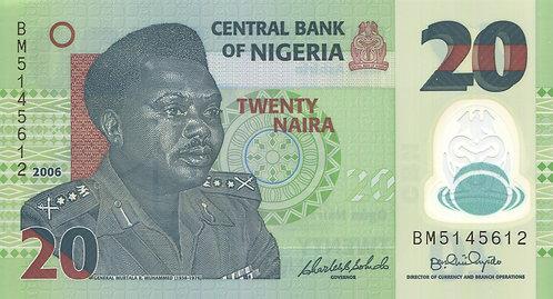 Nigeria, 2006, 20 Naira, Polymer