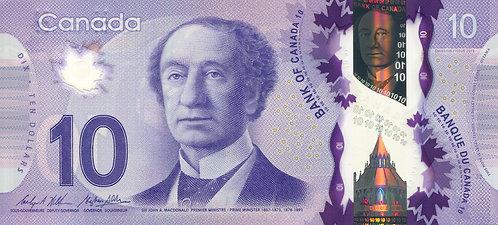 Canada, 2013, 10 Dollars, Polymer