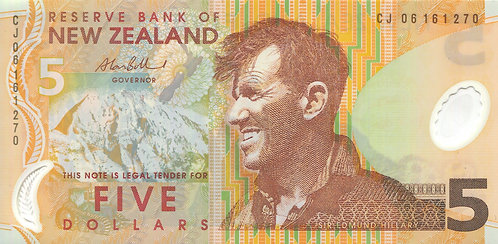 New Zealand, 2006, 5 Dollars, (Sign 2), Polymer