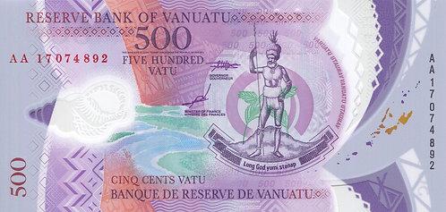 Vanuatu, 2017, 500 Vatu, Polymer