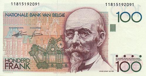 Belgium, 1982-1994, 100 Francs