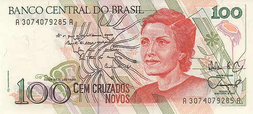 Brazil, 1989, 100 Cruzeiros