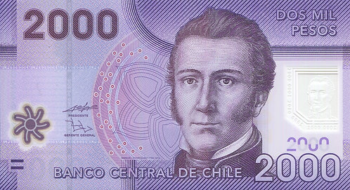 Chile, 2009, 2000 Pesos, Polymer
