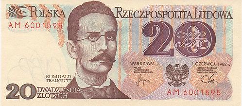 Poland, 1982, 20 Zlotych