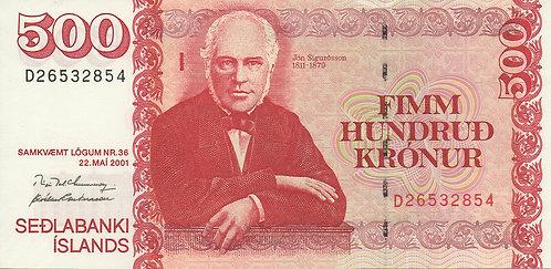 Iceland, 2001, 500 Kronur
