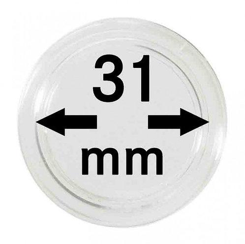 COIN CAPSULES 31 MM Ø INNER DIAMETER