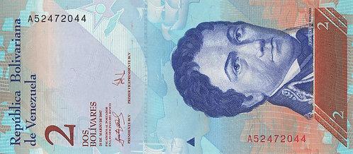 Venezuela, 2007, 2 Bolivares