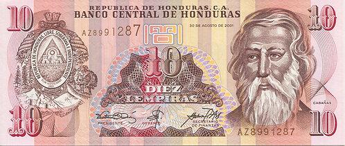 Honduras, 2001, 10 Lempiras
