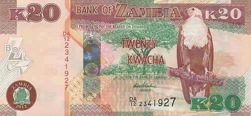 Zambia, 2013, K20 Kwacha