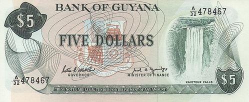 Guyana, 1966-1992, 5 Dollars