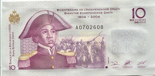 Haiti, 2004, 10 Gourdes