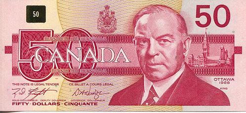 Canada, 1988, 50 Dollars