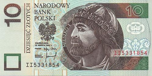 Poland, 1994, 10 Zlotych