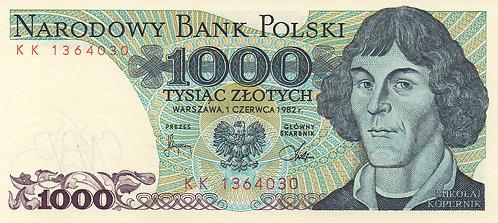 Poland, 1982, 1000 Zlotych
