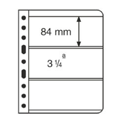 VARIO Plastic Pockets, 3-way division, clear film