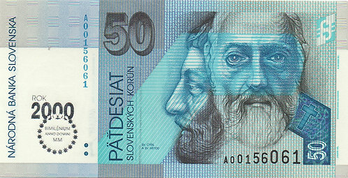 Slovakia, 1993, 50 Korun, Commemorative Year 2000