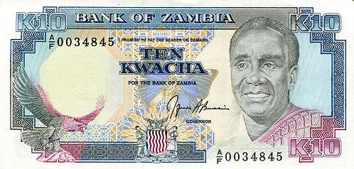 Zambia, 1989-1991, 10 Kwacha