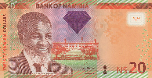 Namibia, 2012, 20 Namibia Dollars