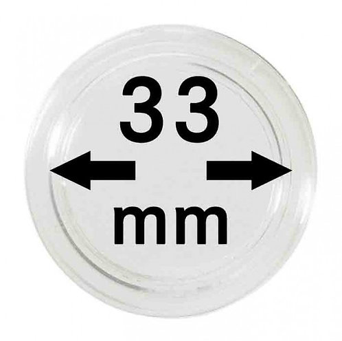 COIN CAPSULES 33 MM Ø INNER DIAMETER