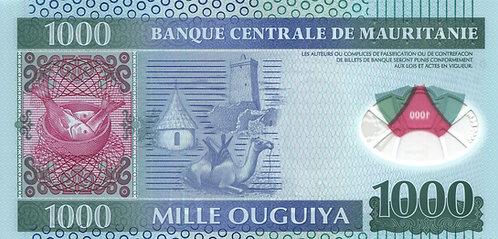 Mauritania, 1000 Mille Oguiya, Polymer