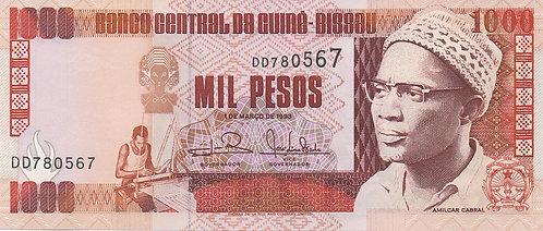 Guinea-Bissau, 1993, 1000 Pesos