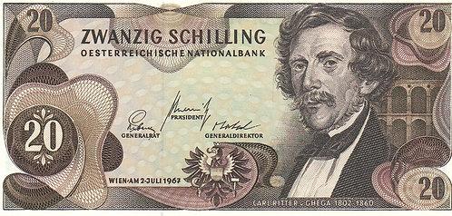 Austria, 1968, 20 Schilling